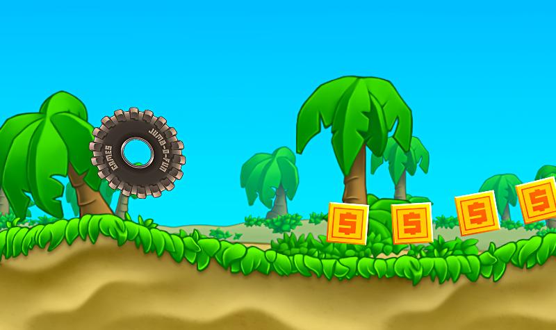 Bouncy Wheel Racing