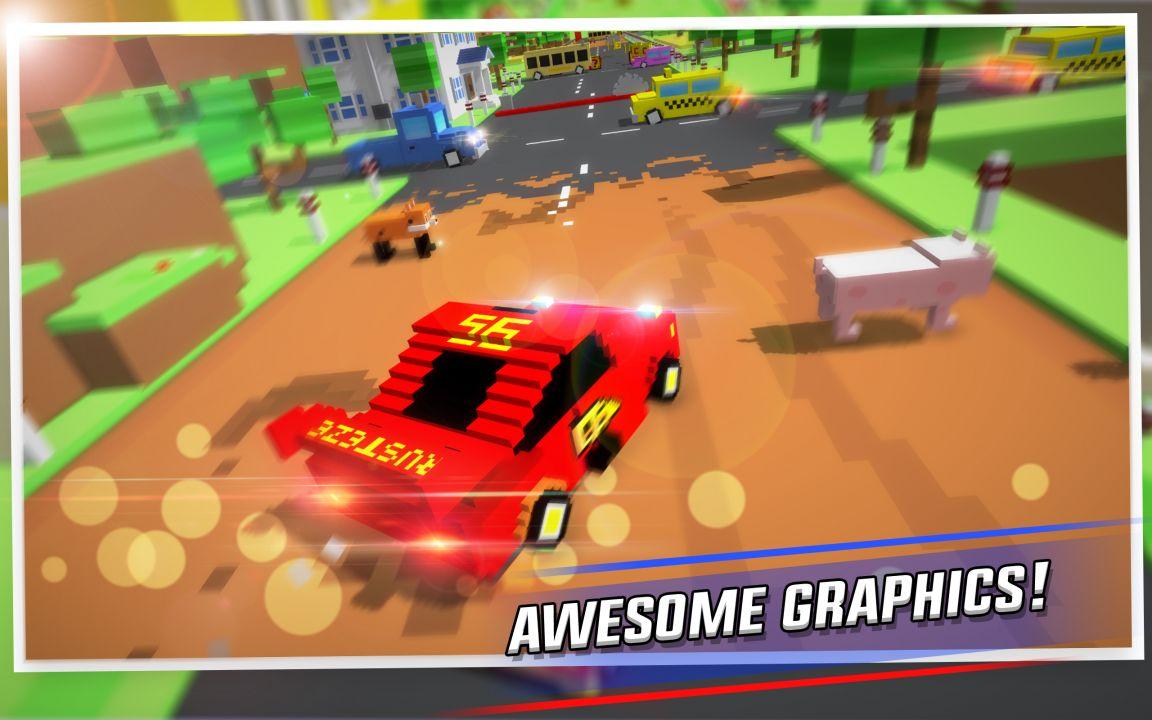 Crossy Brakes - Blocky Driving Game