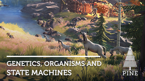Genetics, Organisms and State Machines in Pine