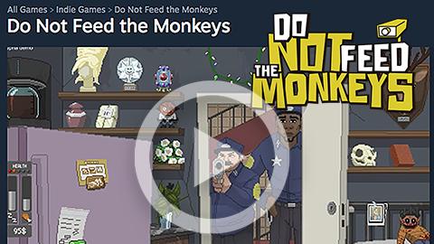 Watch the monkeys alive
