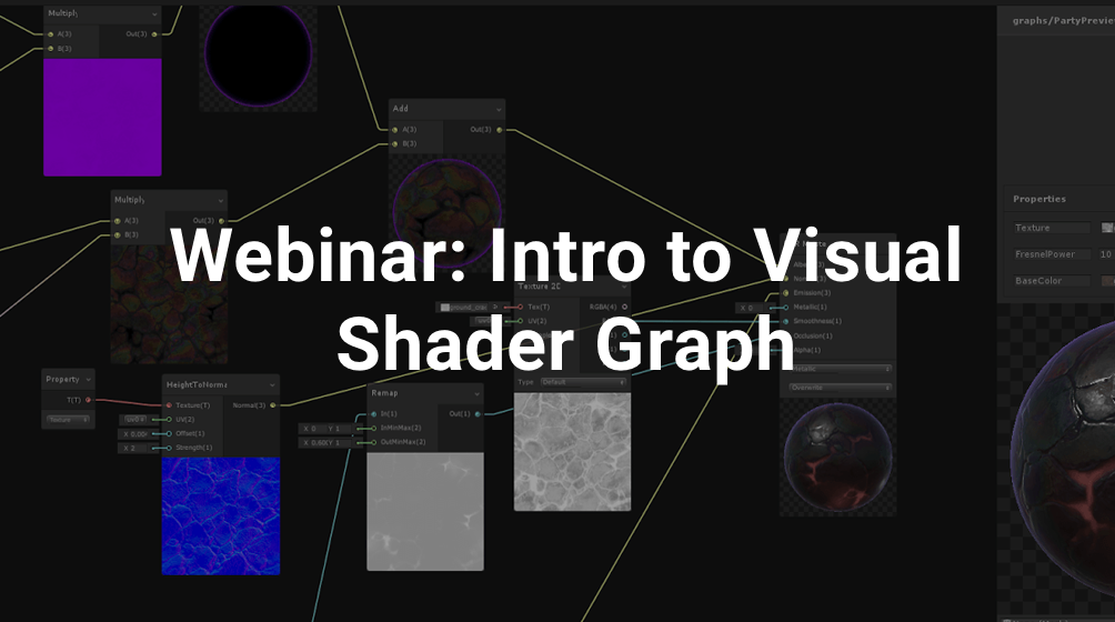 ANZ Webinar: Intro to Visual Shader Graph