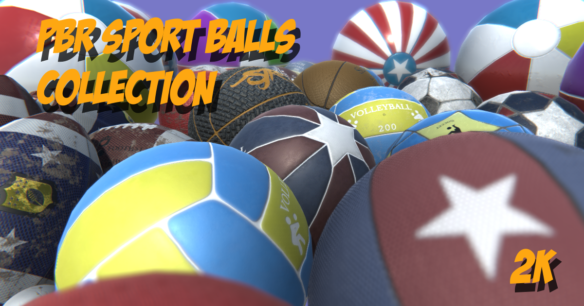 PBR sport ball collection