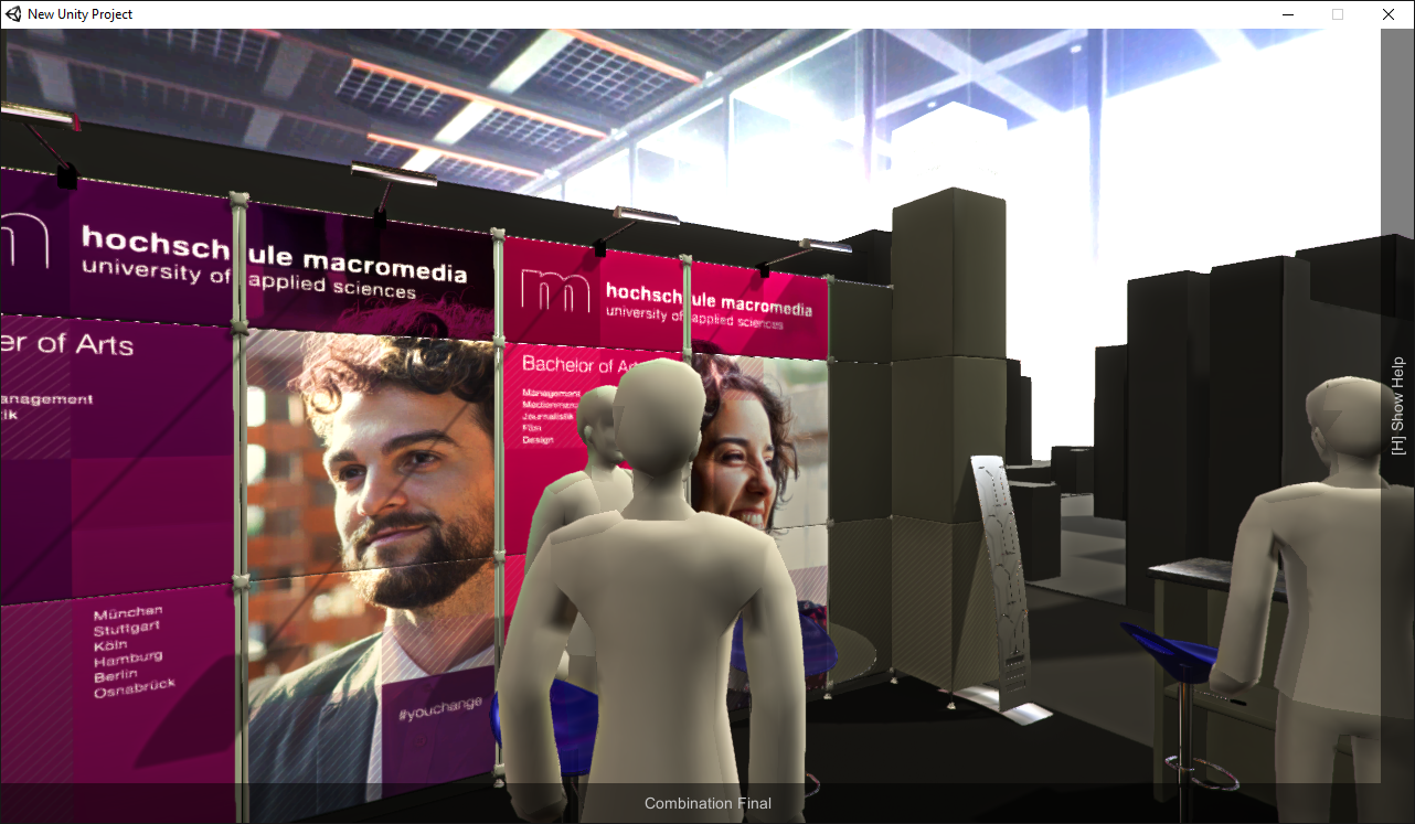Interactive exhibition stand