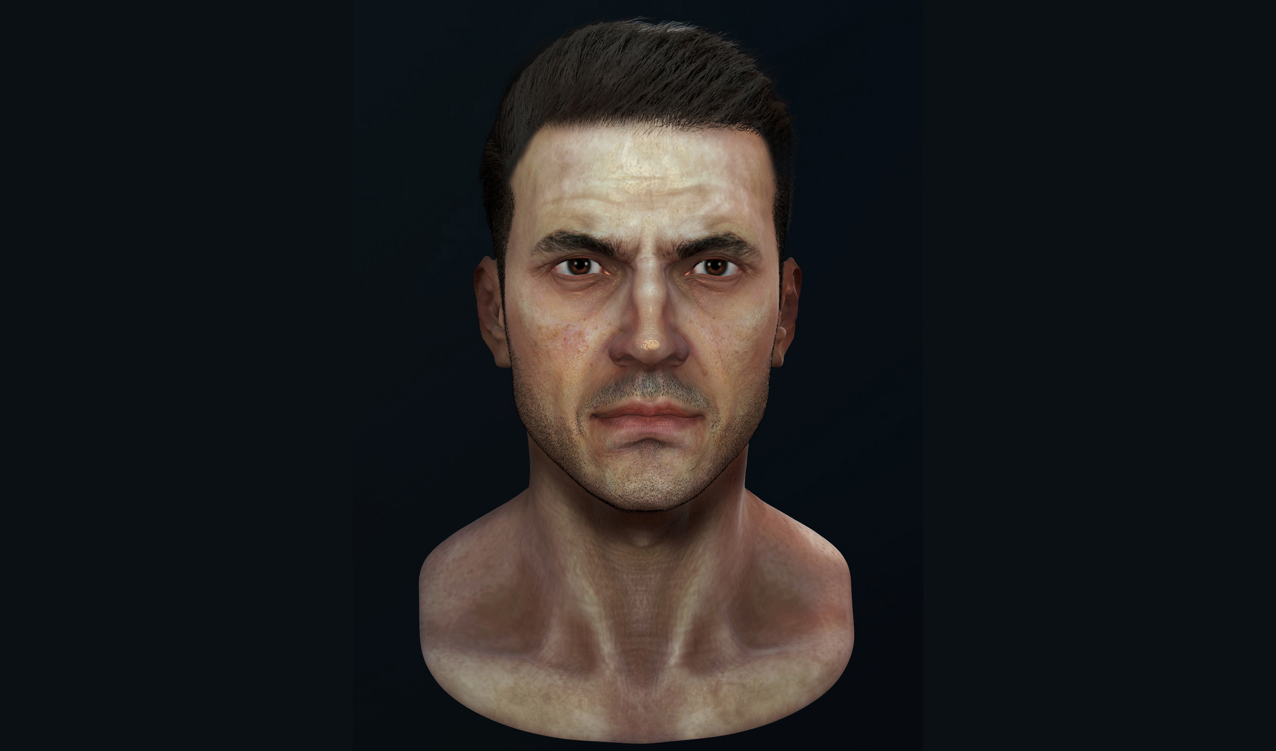 Realistic Man Face