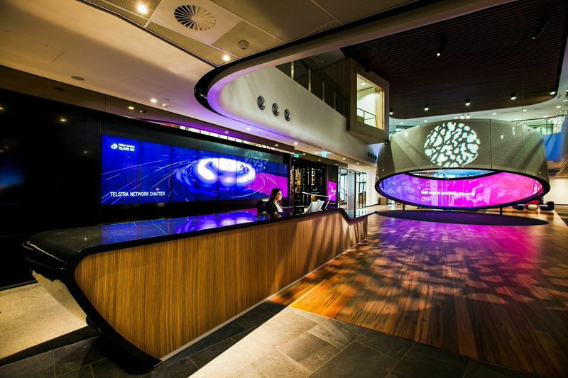 Telstra Reception Wall