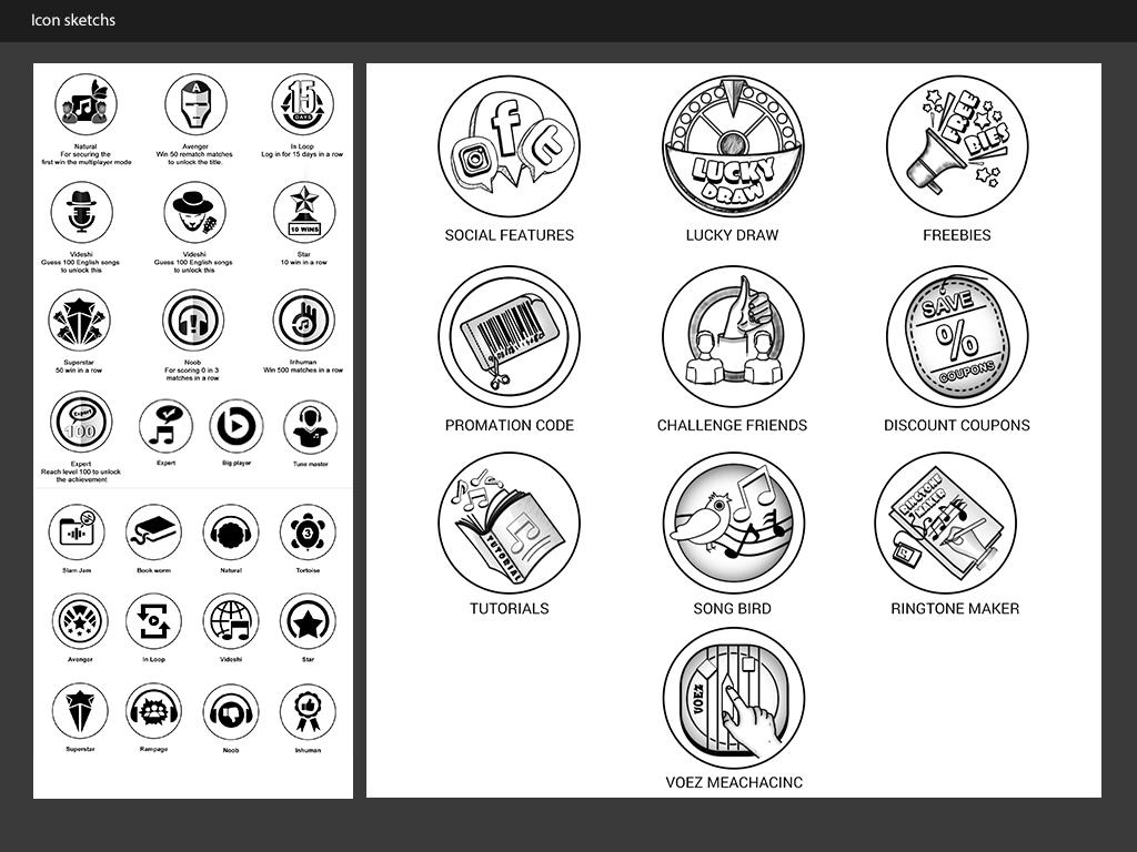 Sketches Icon Design
