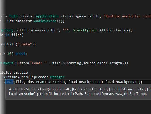 Runtime AudioClip Loader