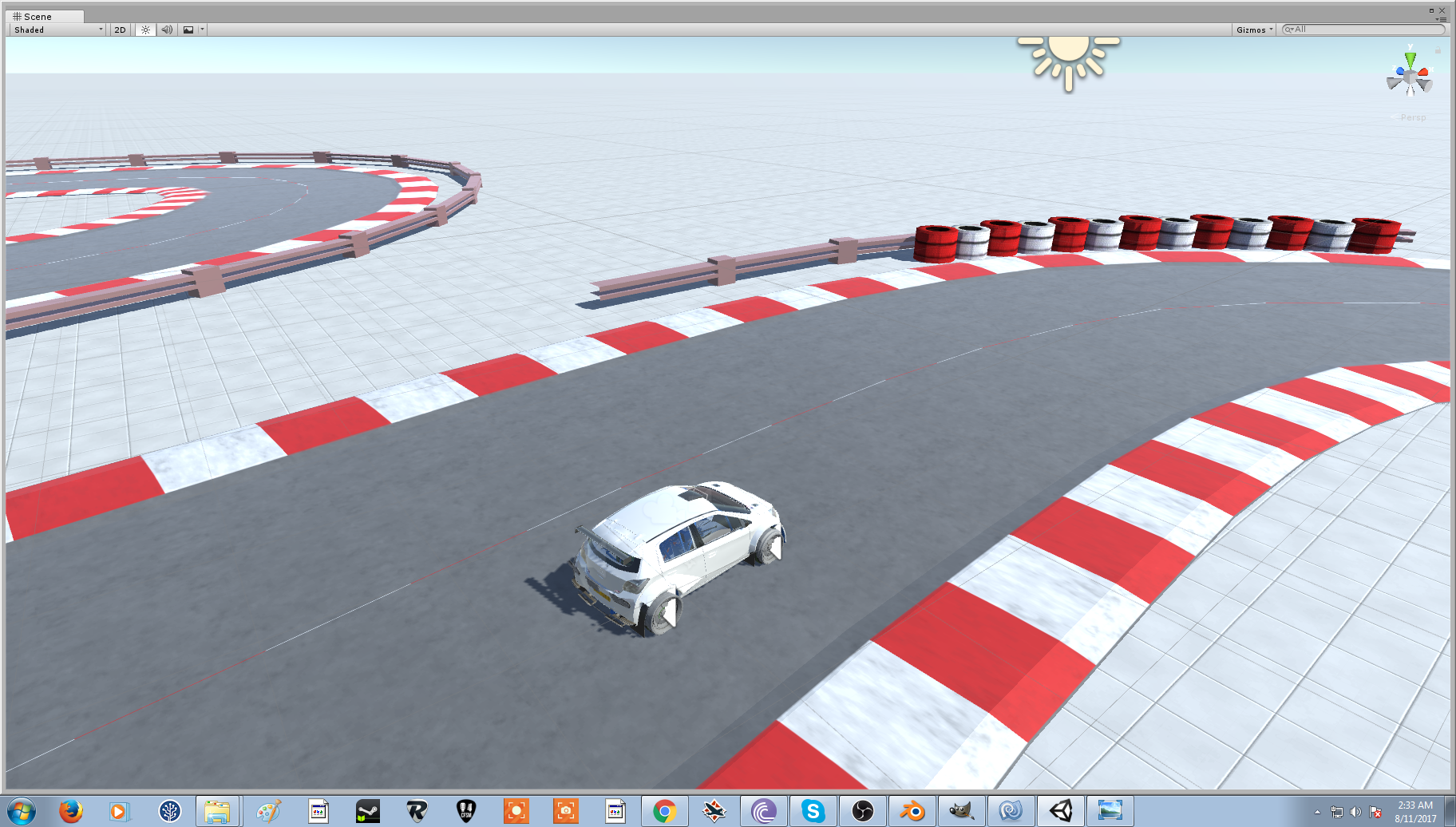 Simple VR racing sim