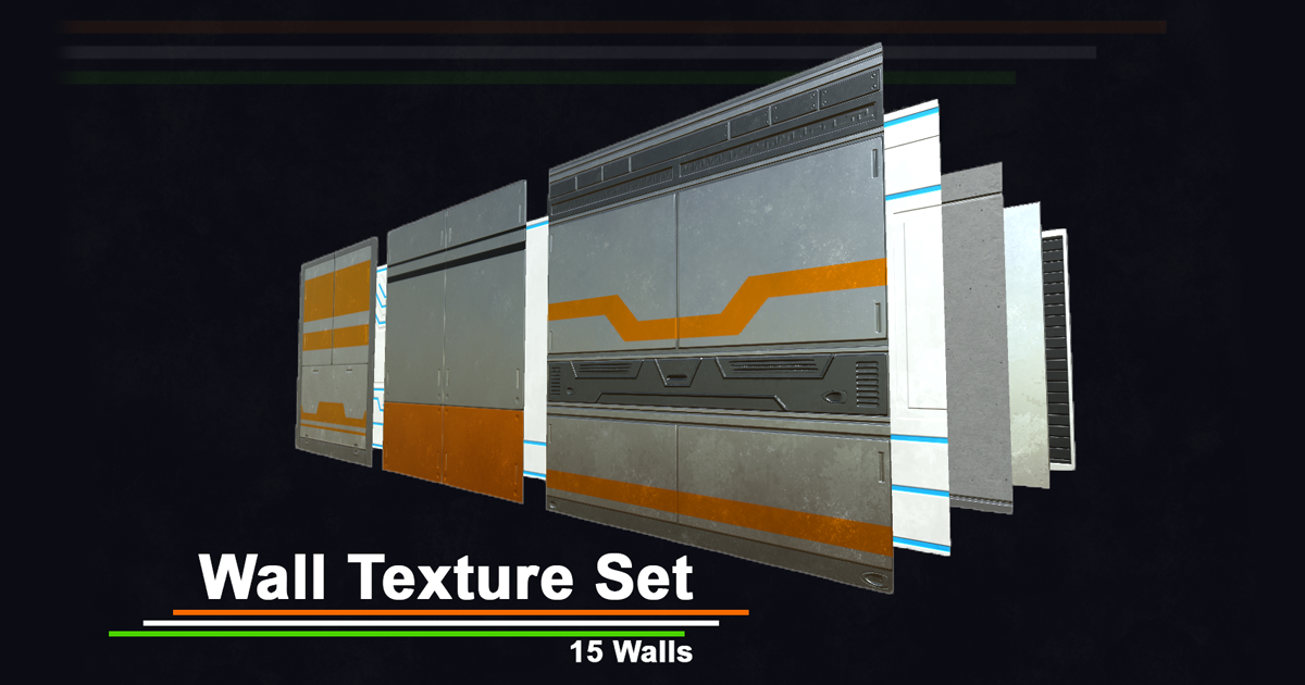 PBR Textures created for Sci-Fi games