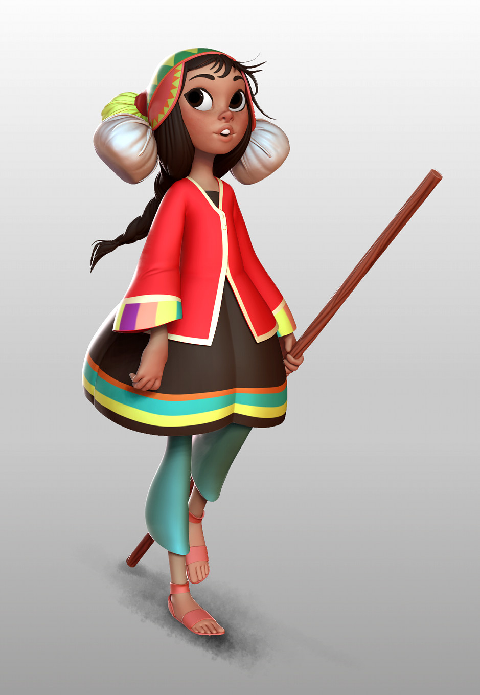 Machu Picchu Girl