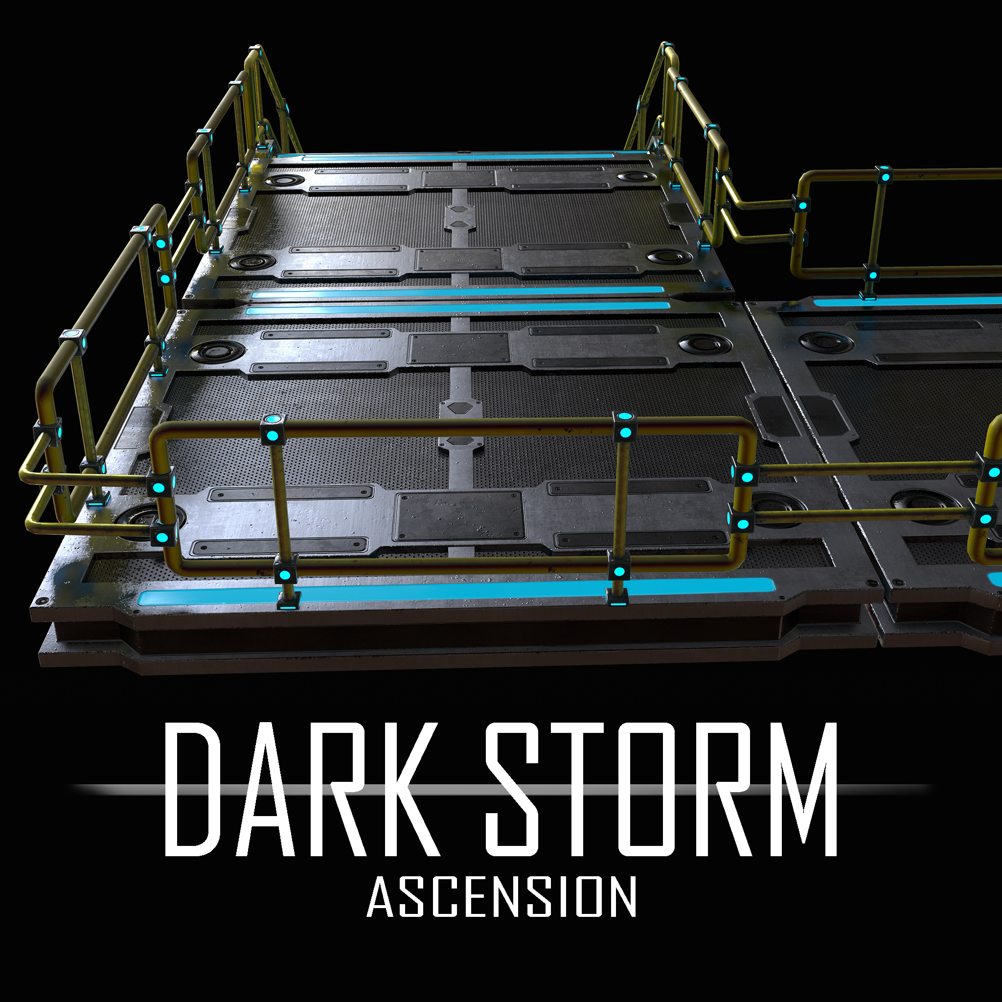 Dark Storm Ascension: Game Asset - Modular Stairs & Platform