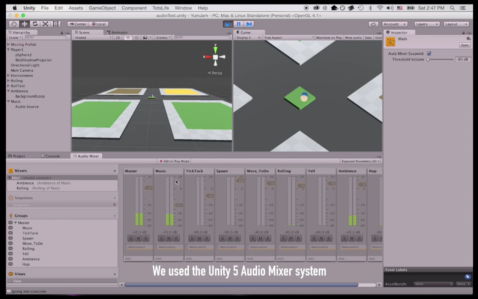 UNITY SCRIPTING: PHYSICS PARAMETERS AND DECIBELS