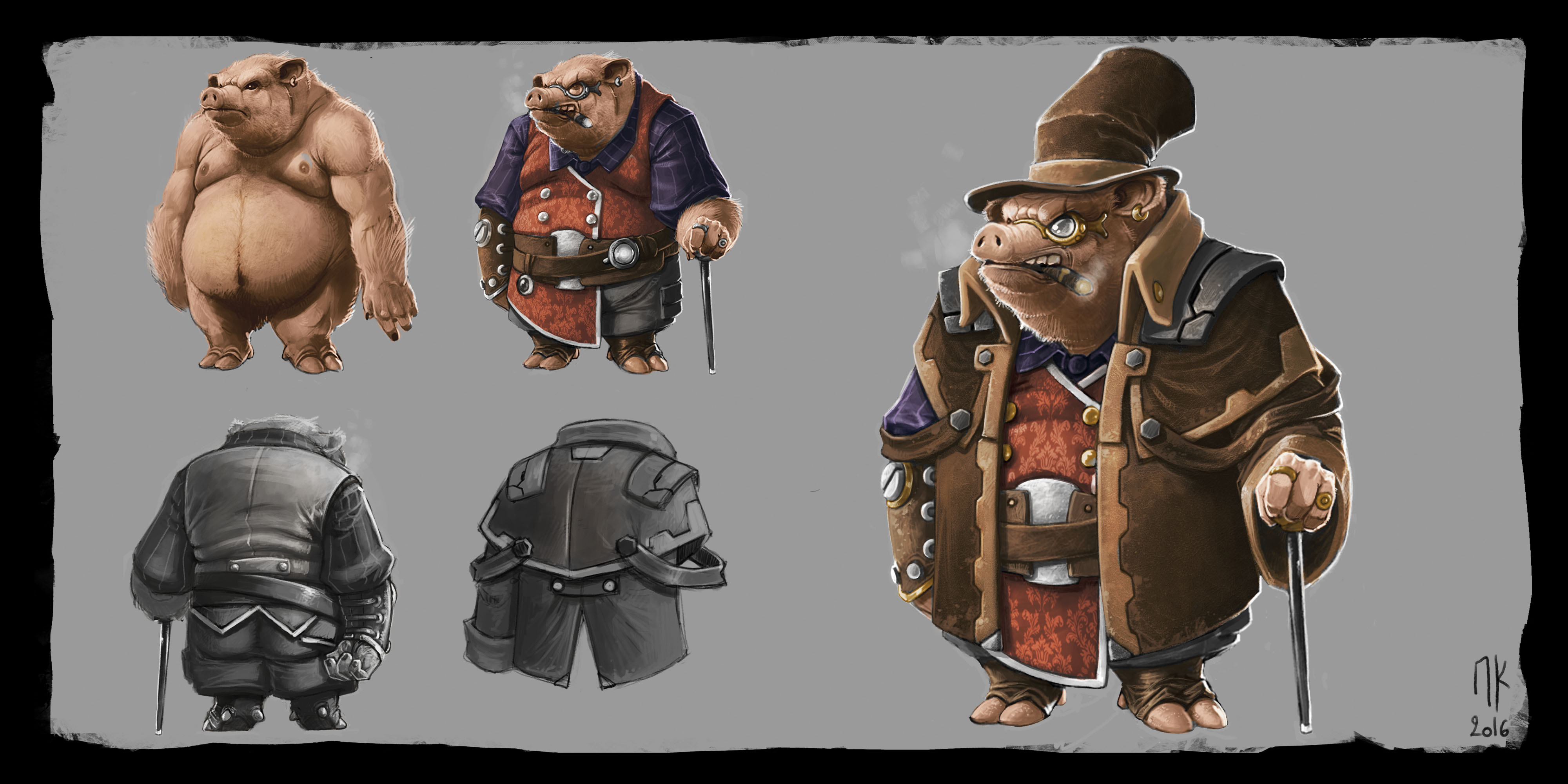 Early Character design for World of Grimm project