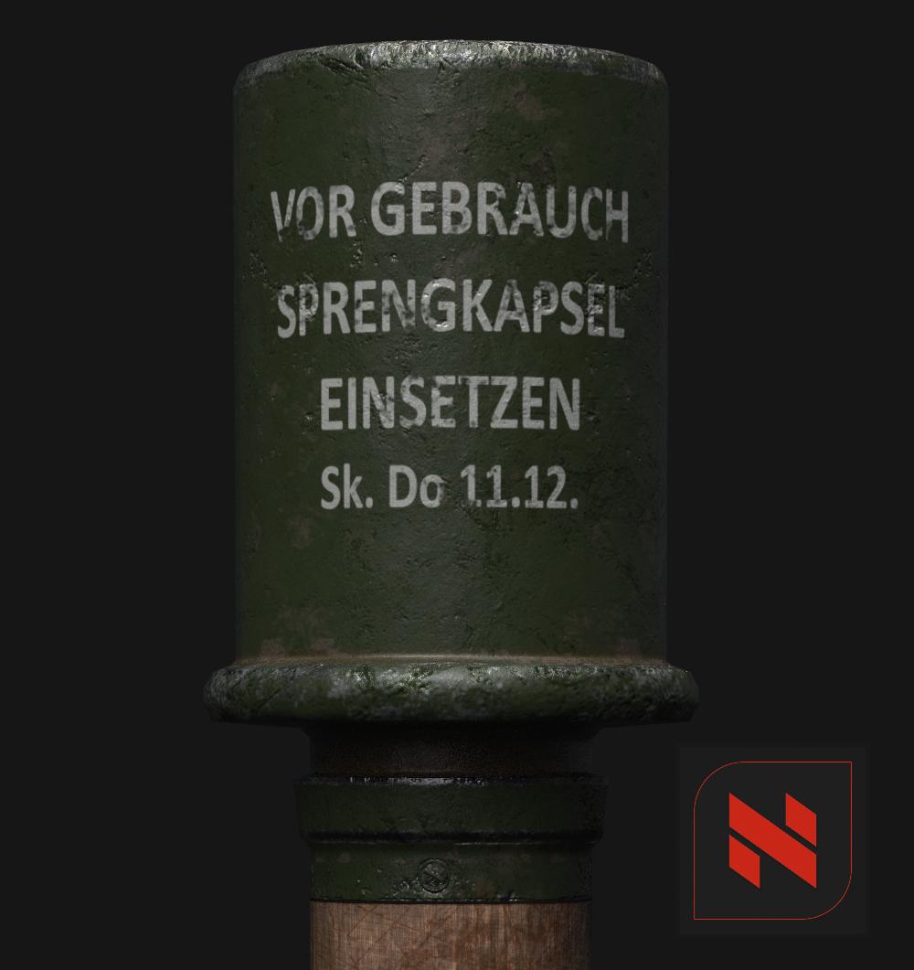 WW2 Stick Grenade
