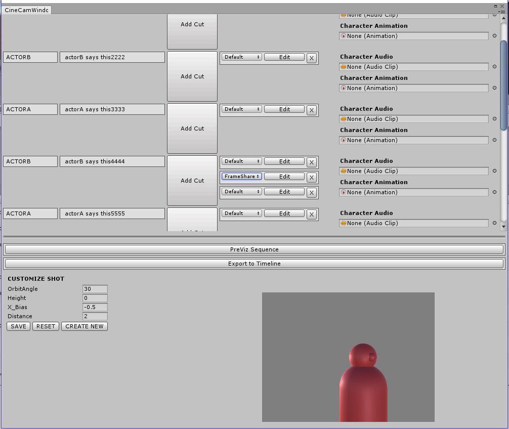 Dialogue Camera Placement Editor Tool