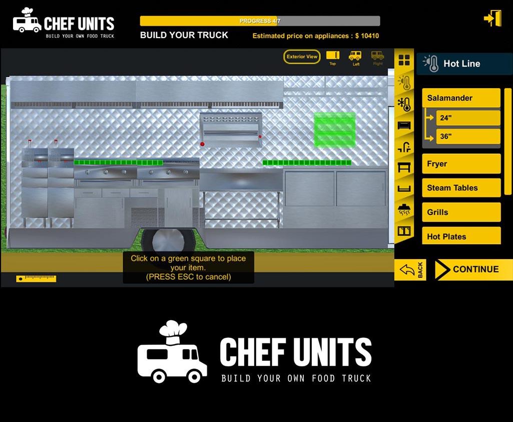 Chef Units Food Truck 3D Builder