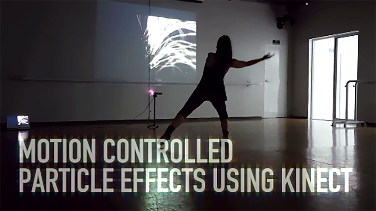 Motion controlled particle effects