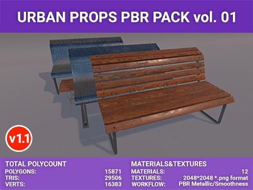 Urban PBR props vol. 01