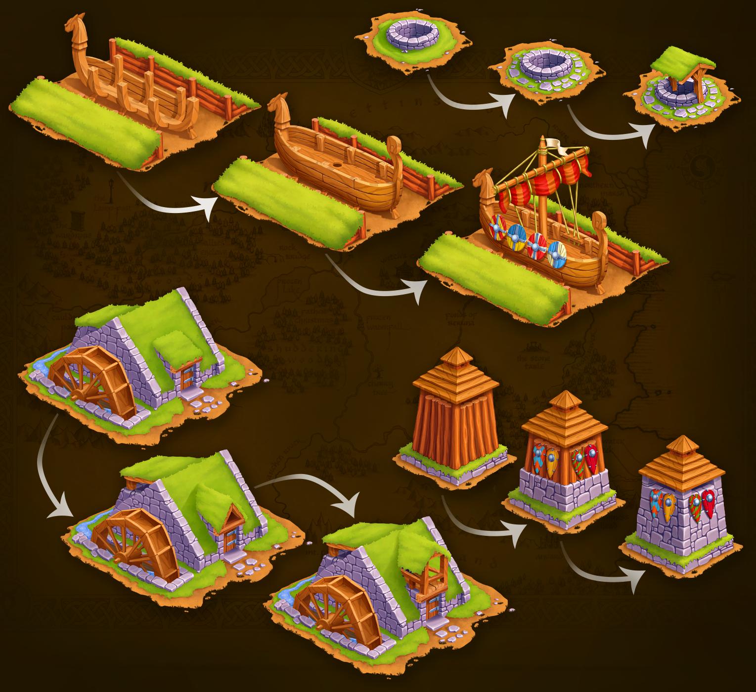 2D Medieval Buildings