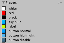 How to set colors using preset colors