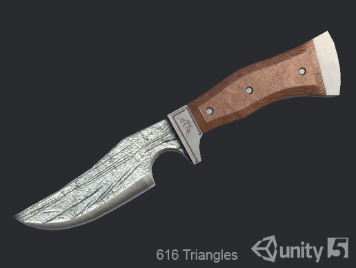 3D Knife for Game