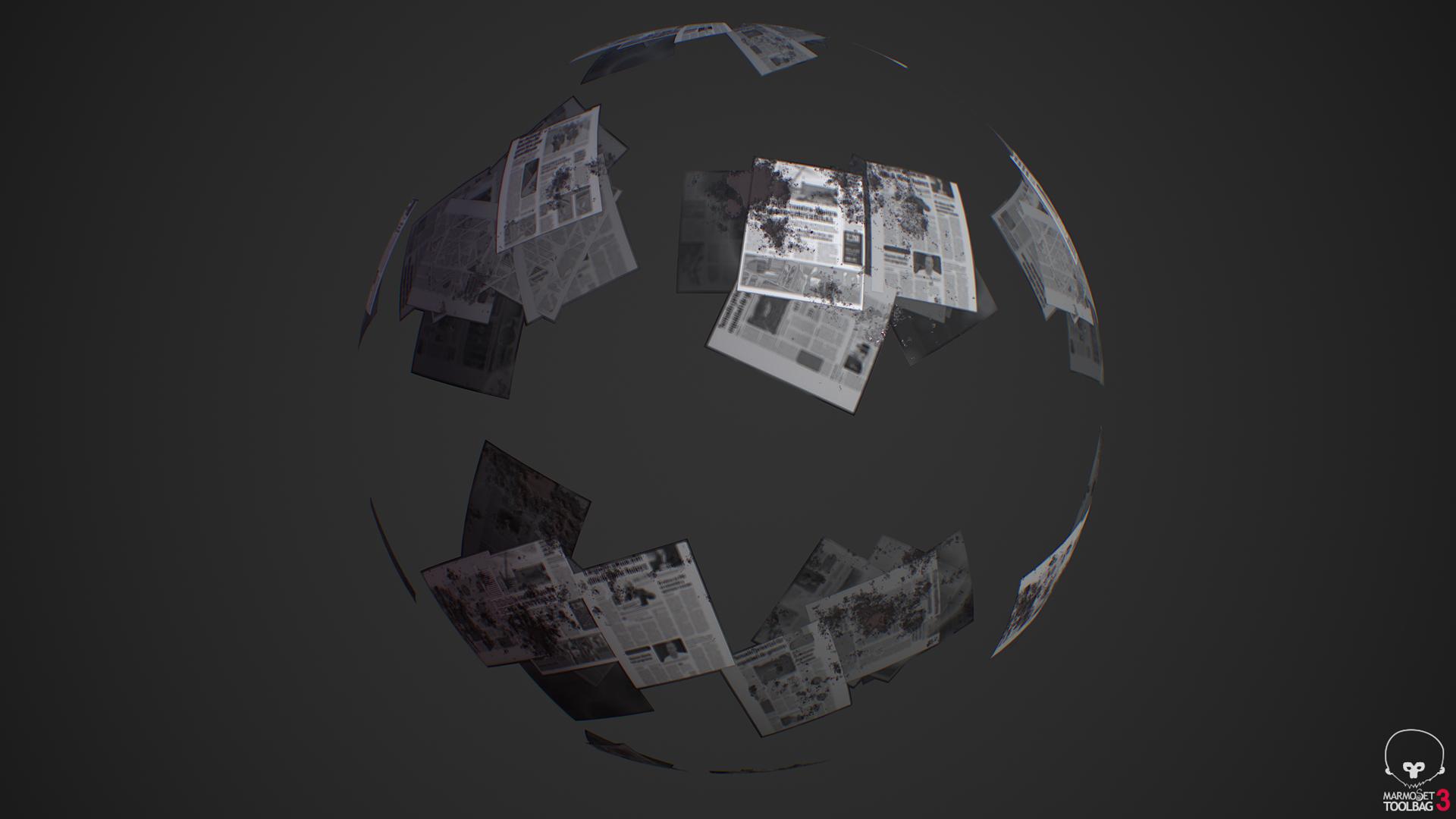 Newspaper Decal Material