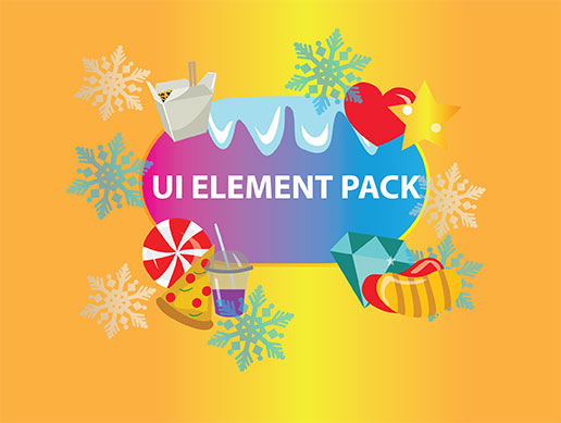 UI button and elements pack 4