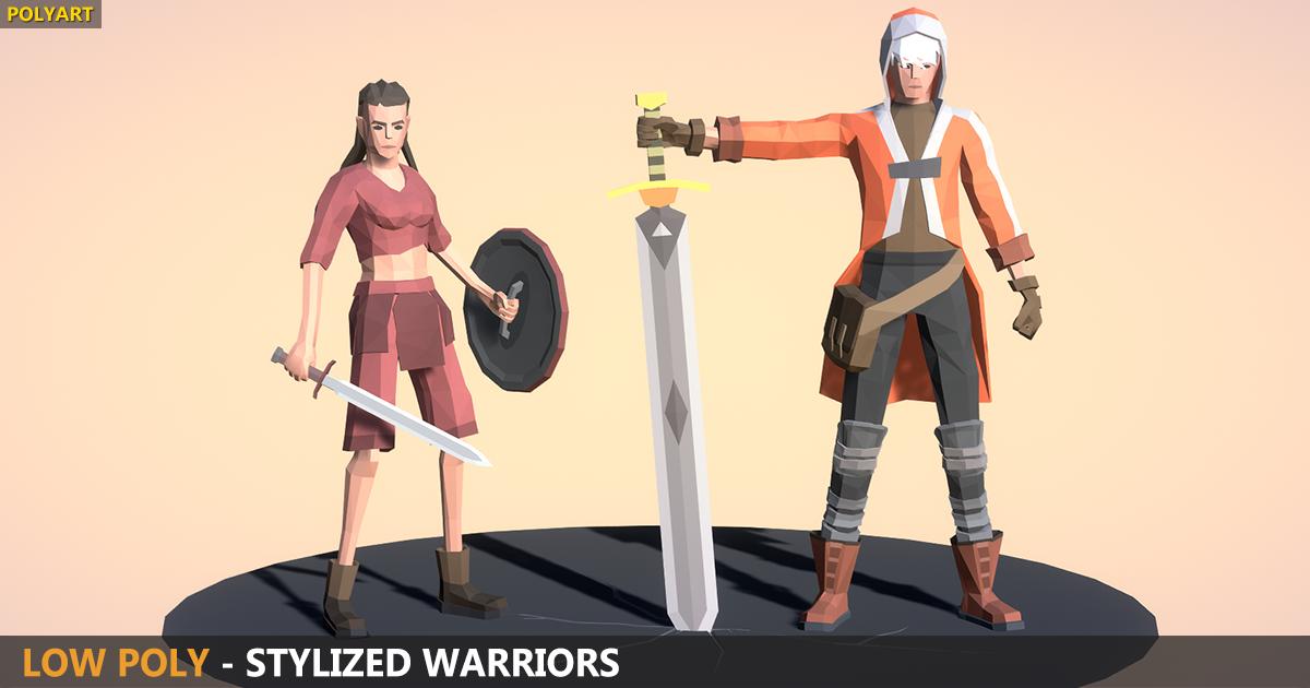 LOW POLY - Stylized Warriors