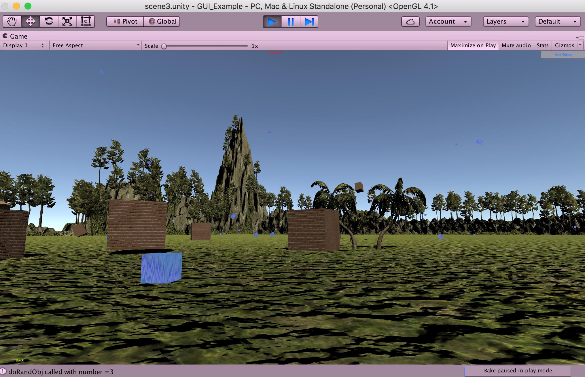 GUI scene loader demo