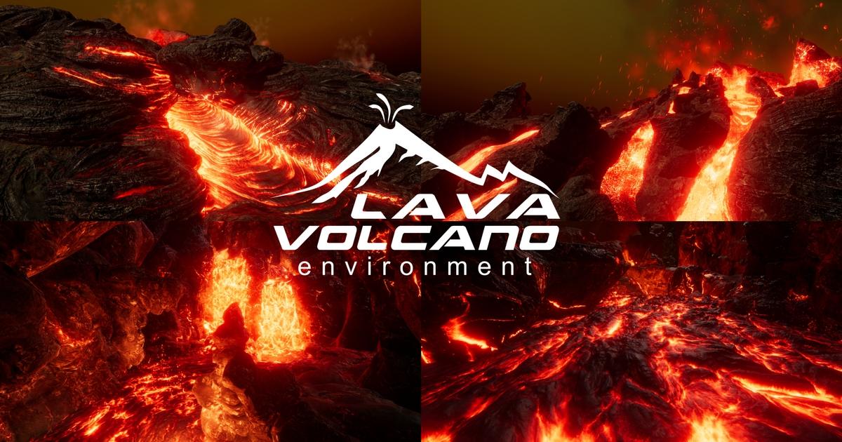 Lava & Volcano Environment