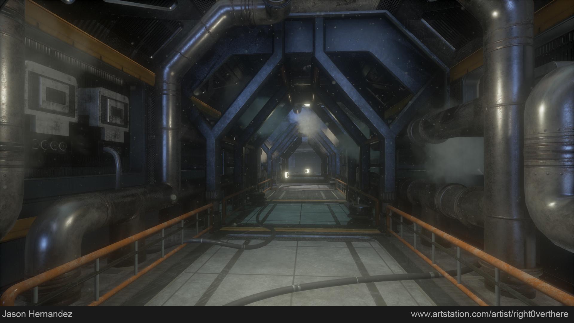 SciFi Hallway