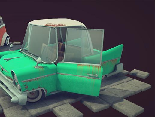 Retro Cartoon Cars