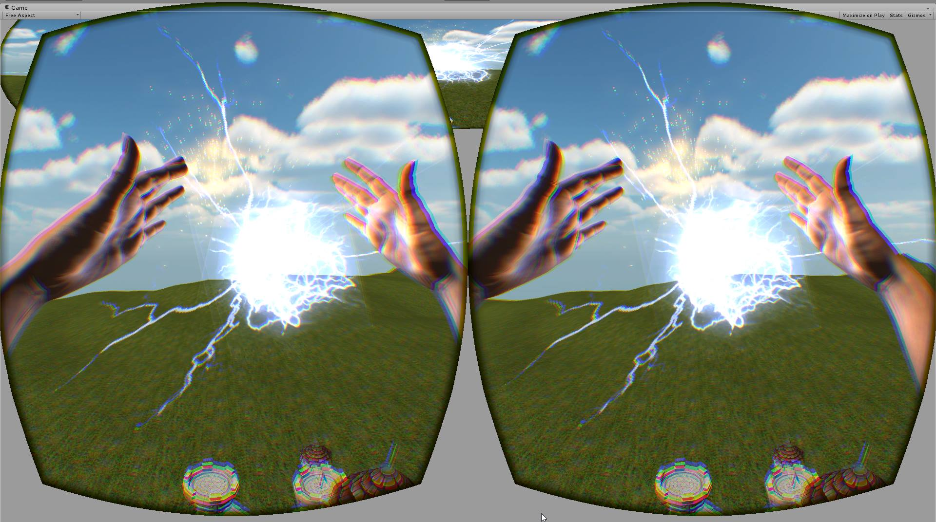 VR Wizard simulator prototype