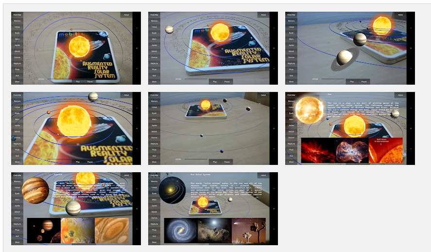 Augmented Reality Solar System