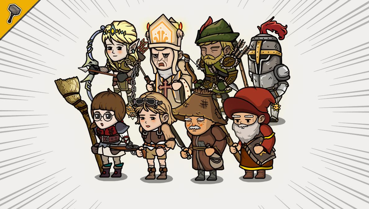 2D Mercenary Character Pack
