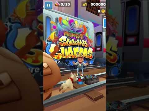 Видеообзор игры на Андроид от Cosmos3D: Subway Surfers