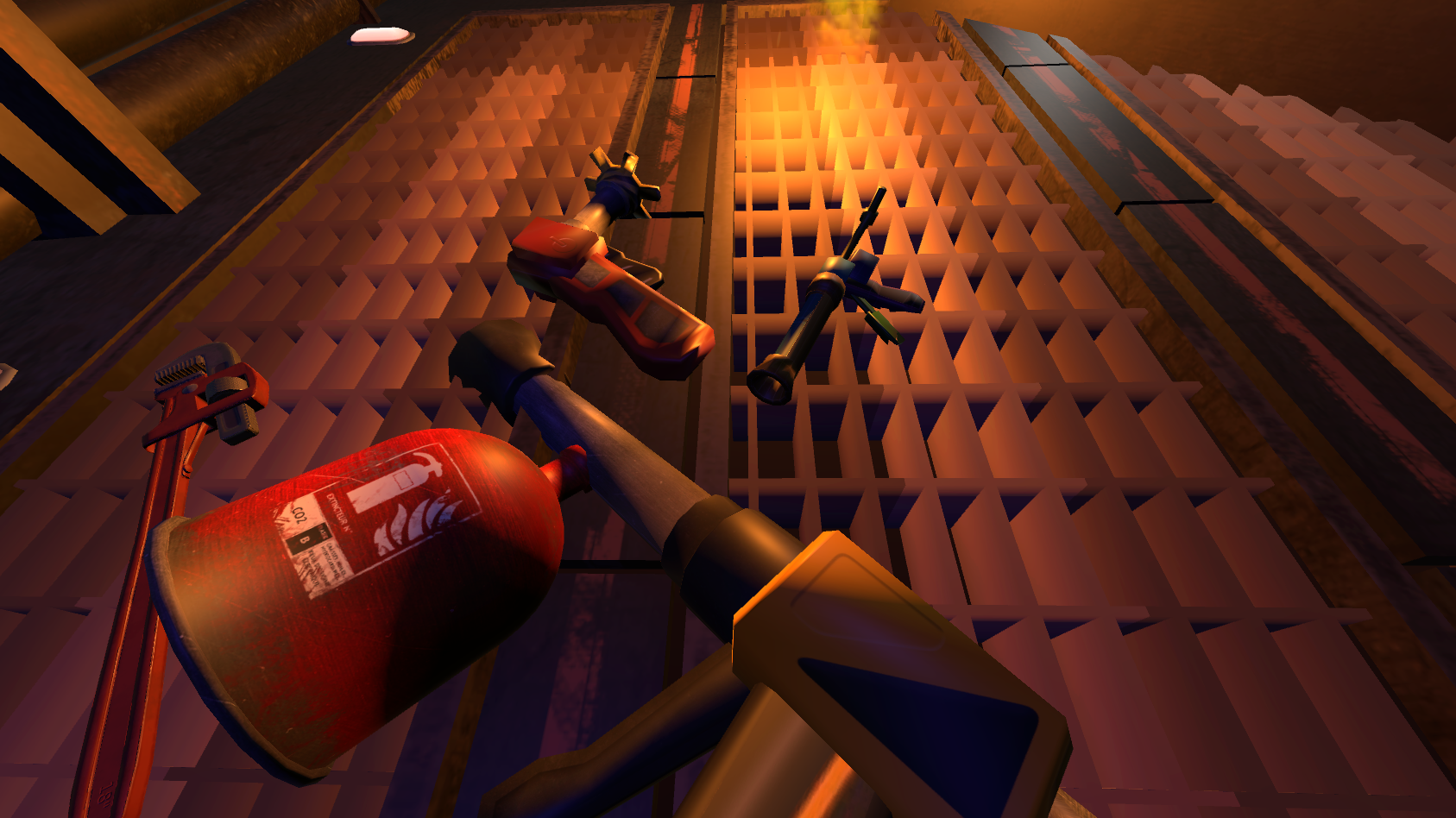 HTC Vive: The room is on fire (Virtual Game Jam 2016)