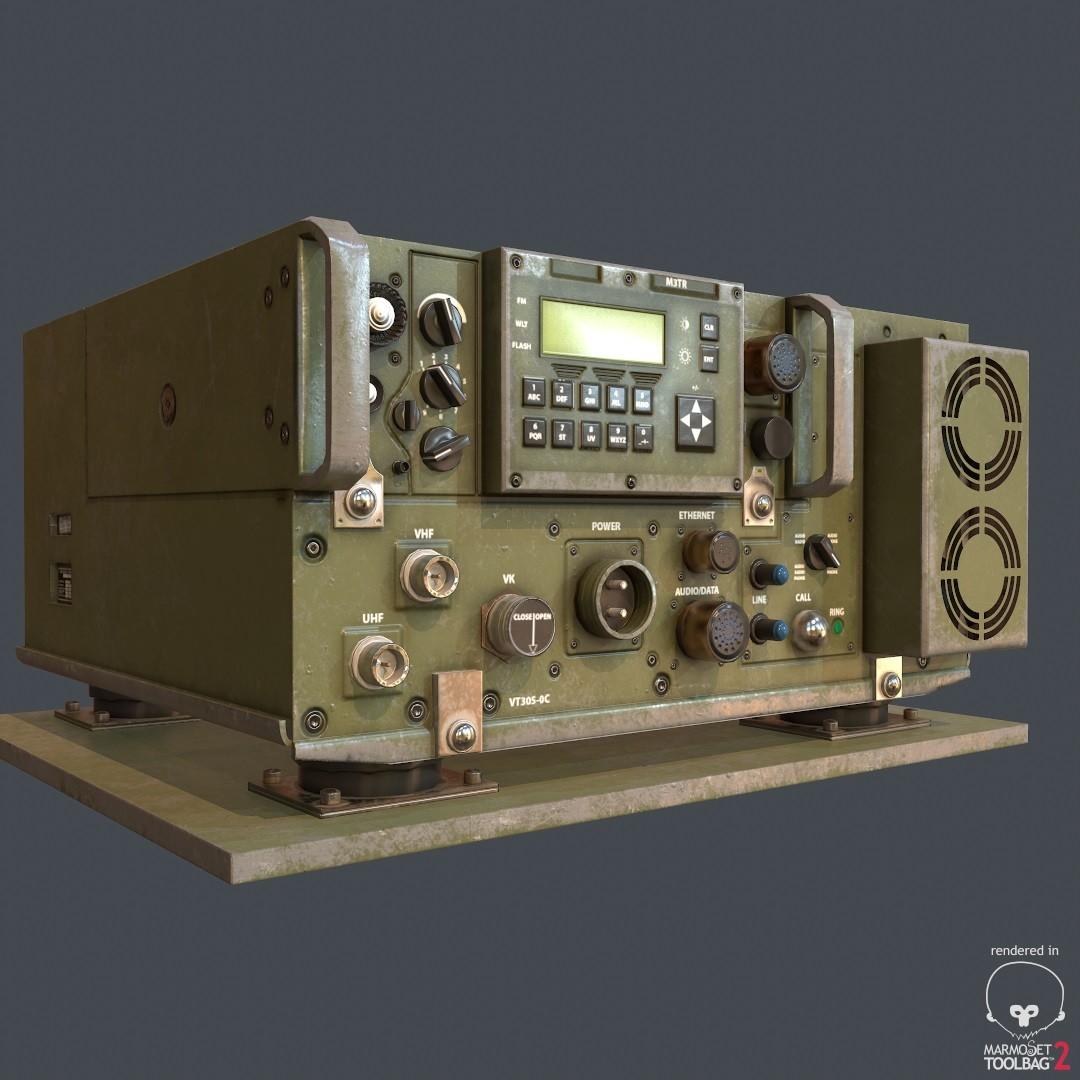 Military radio transceiver