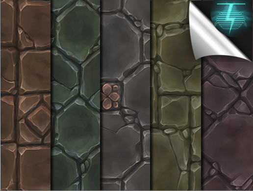Hand Painted Texture Pack - Ground Stone Tiles Vol. 02