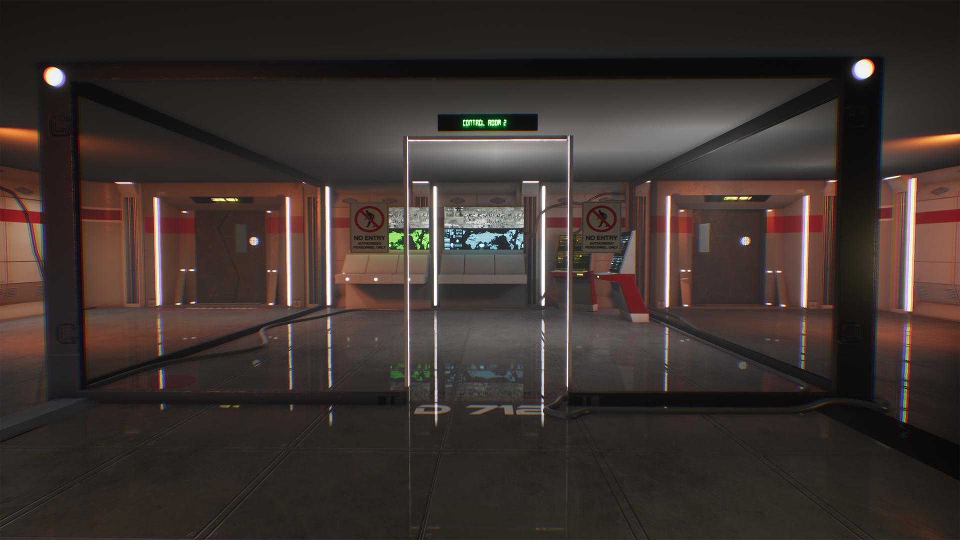 Sci-fi Control Room Game Ready