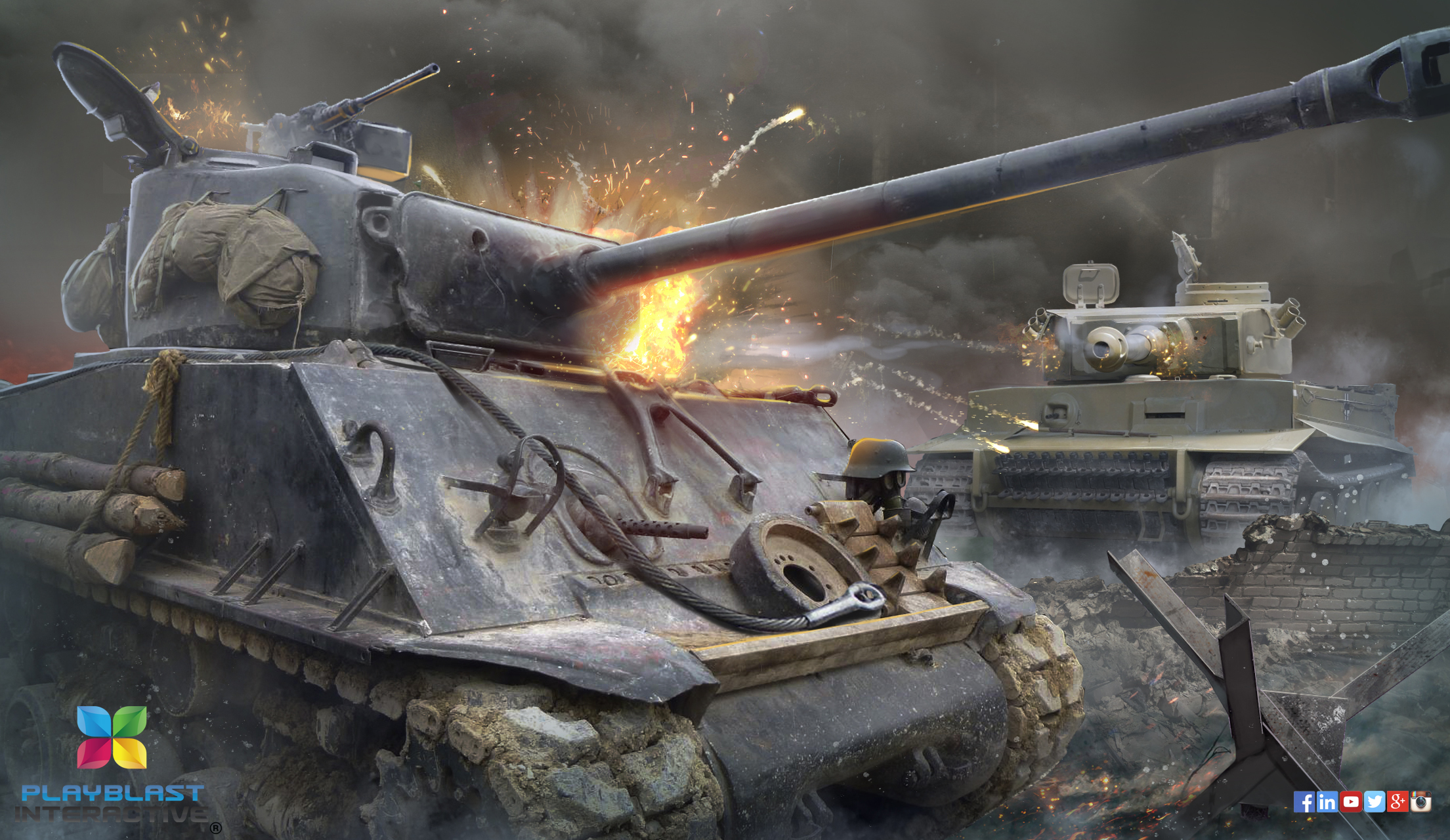 Some concept art for one of our Tank games.