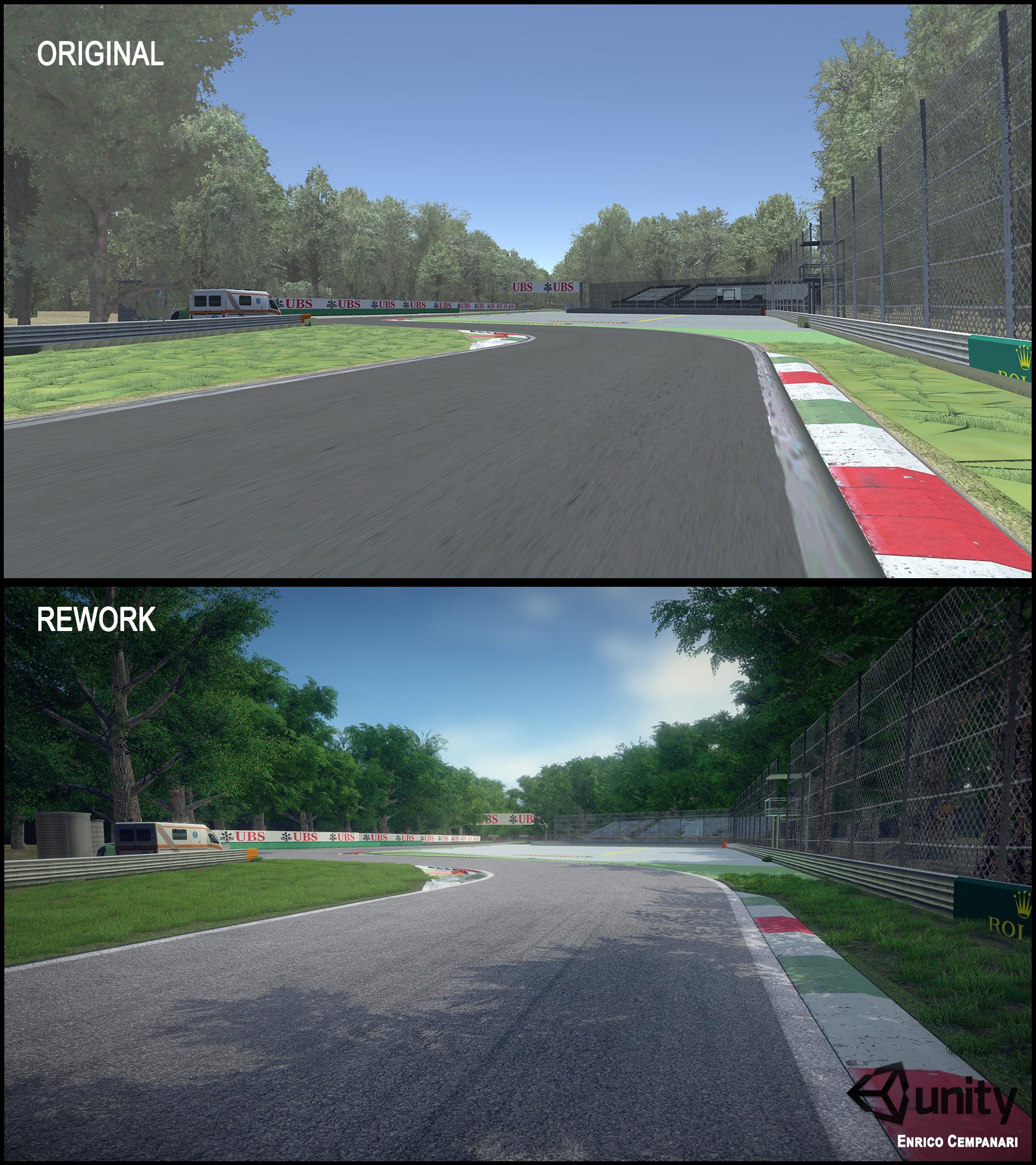 Monza Racetrack Rework