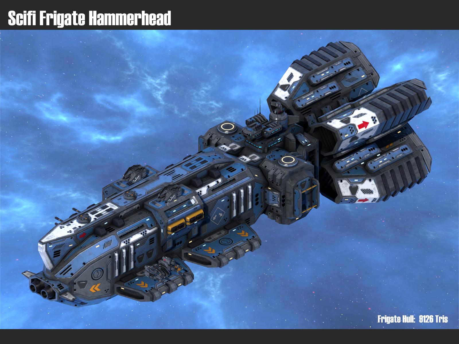 Scifi Frigate Hammerhead