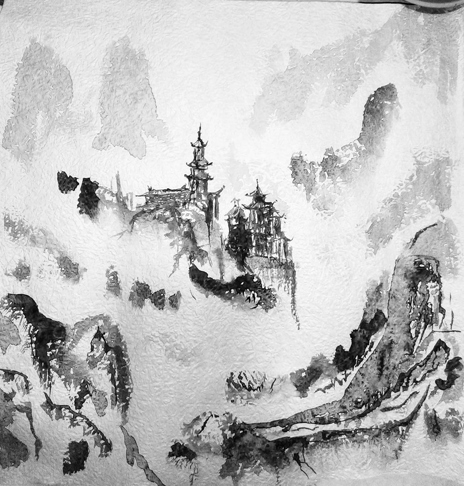 Chinese ink painting (practice)