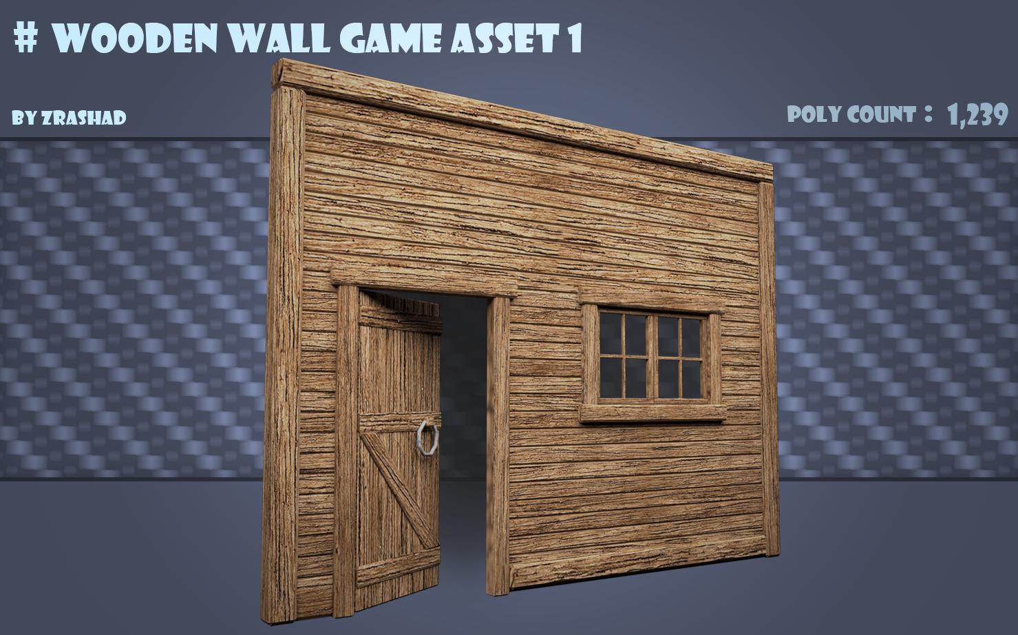Wooden Wall Game Asset