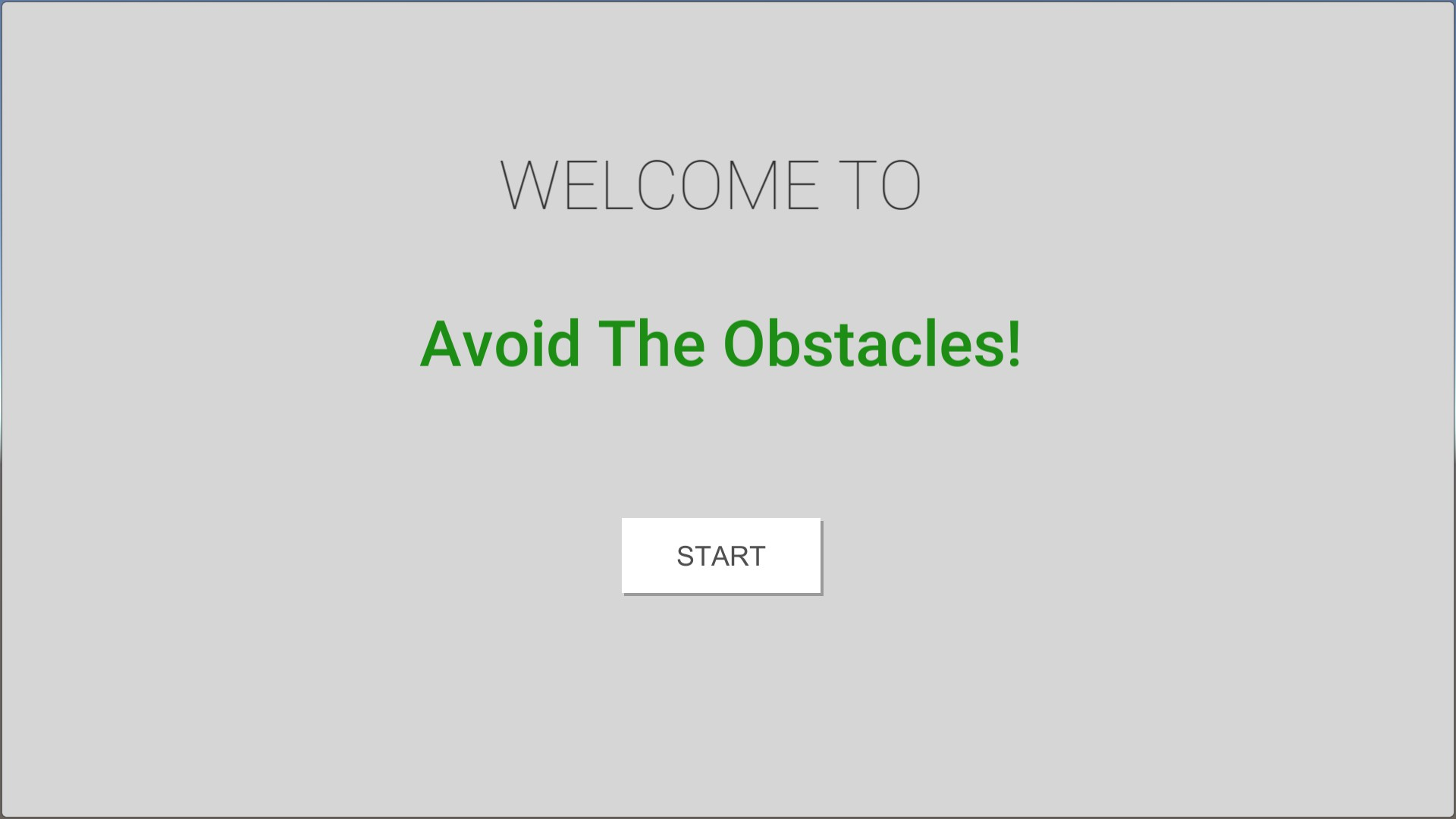 Avoid The Obstacles!