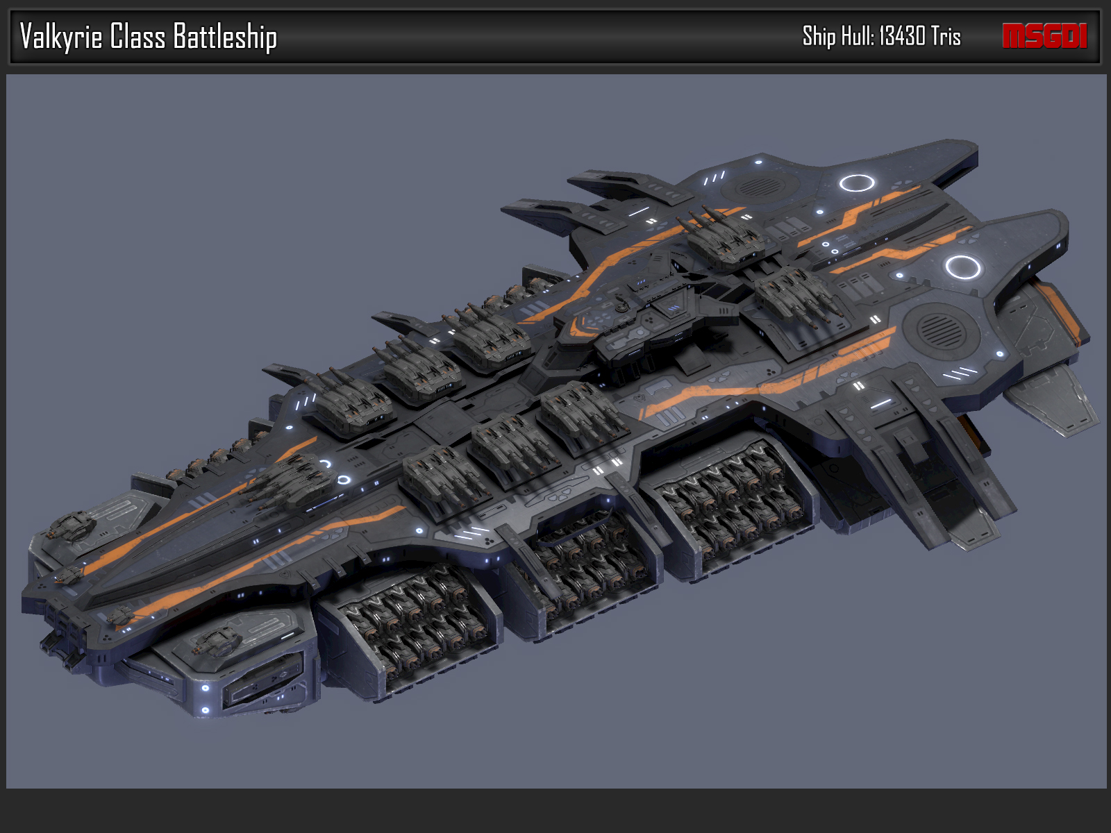 Scifi Battleship Valkyrie