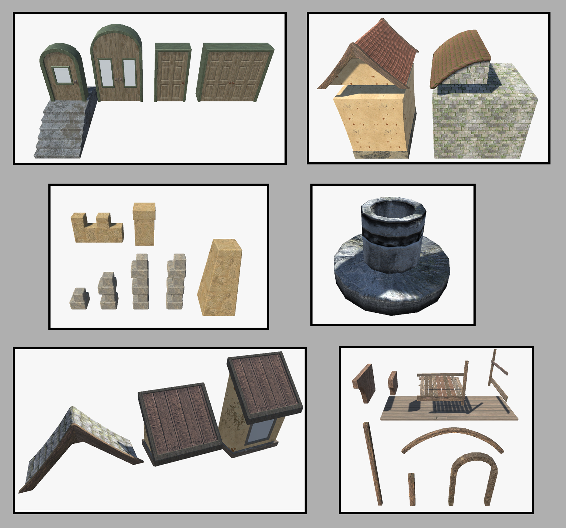 Modular houses parts library