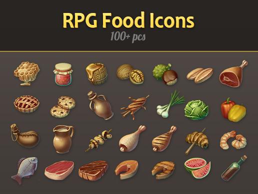 RPG Food Icon Pack