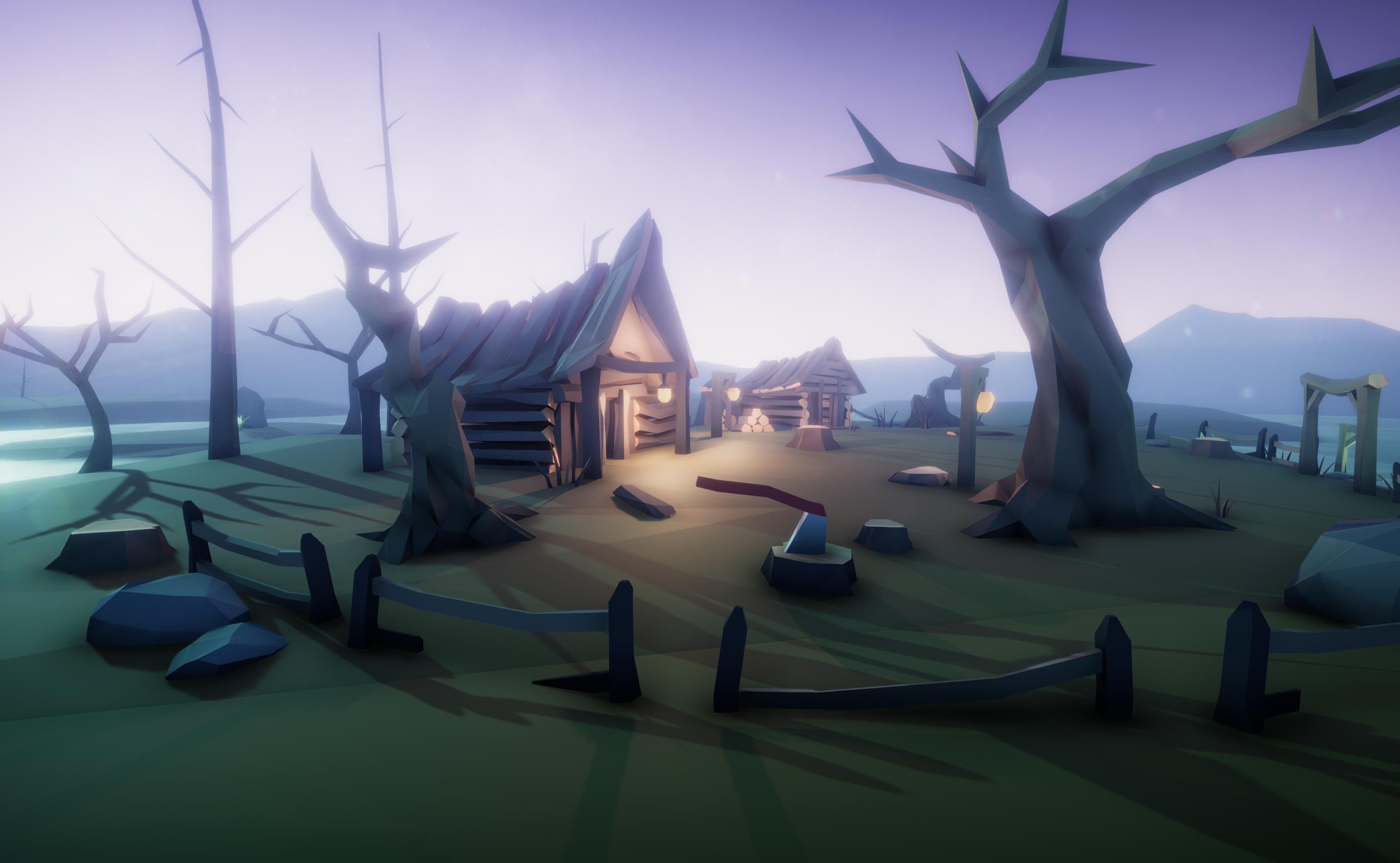 Swamp Village - LowPoly Kit
